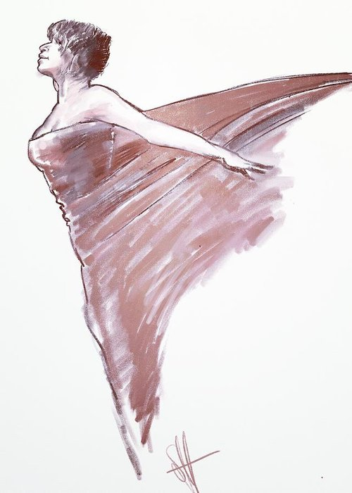 Drawing Greeting Card featuring the digital art Angel by Scott Waters