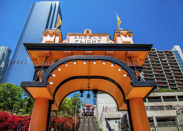 Los Angeles Greeting Card featuring the photograph Angels Flight by Az Jackson