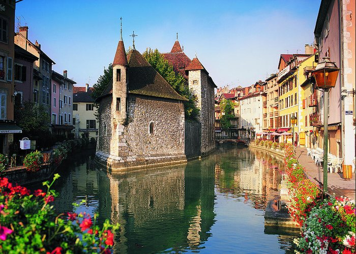 Town Greeting Card featuring the photograph Annecy, Savoie, France by Robertharding