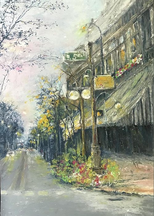 Argenta Greeting Card featuring the painting Argenta This Is Not Alices Restaurant by Robin Miller-Bookhout