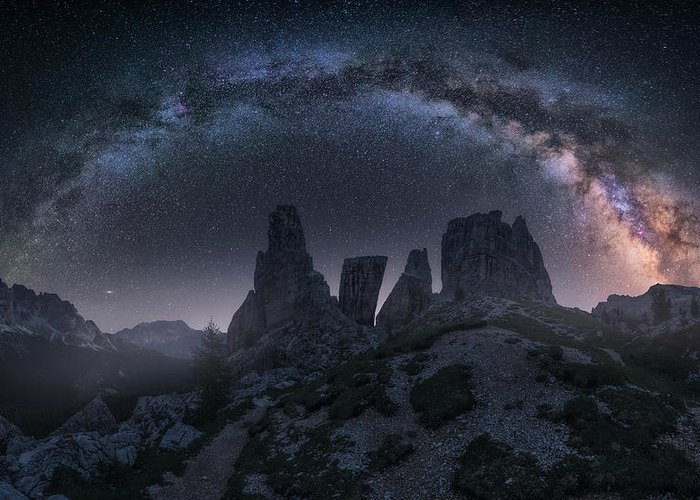 Milkyway Greeting Card featuring the photograph Art Of Night II by Carlos F. Turienzo