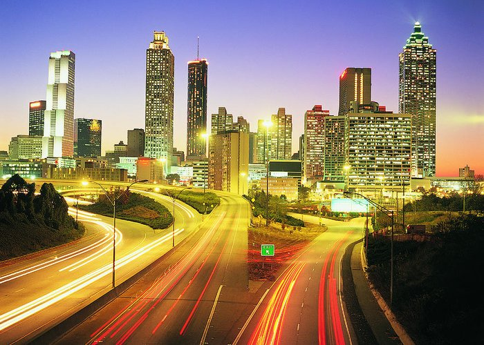 Atlanta Greeting Card featuring the photograph Atlanta Skyline, Georgia, Usa by Travel Ink