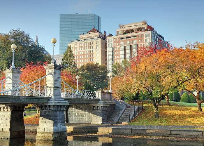 Downtown District Greeting Card featuring the photograph Autumn In Boston by Denistangneyjr