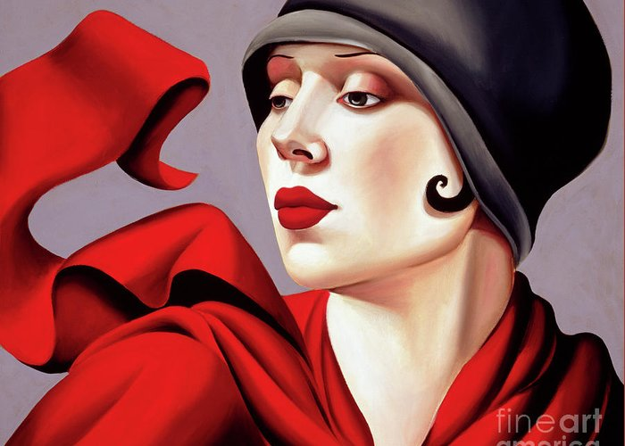 30s Greeting Card featuring the painting Autumn Zephyr by Catherine Abel