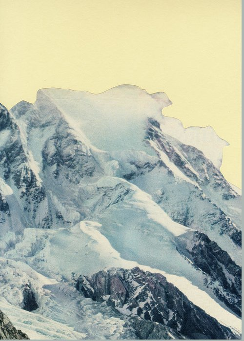 Mountains Greeting Card featuring the mixed media Avalanche by Cassia Beck