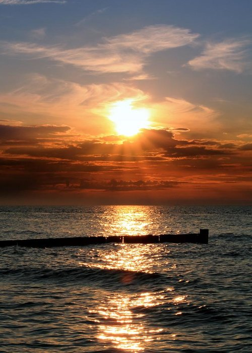 Tranquility Greeting Card featuring the photograph Baltic Sunset by © Jan Zwilling
