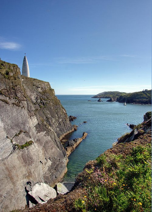 Tranquility Greeting Card featuring the photograph Baltimore Beacon by Keith Marshall