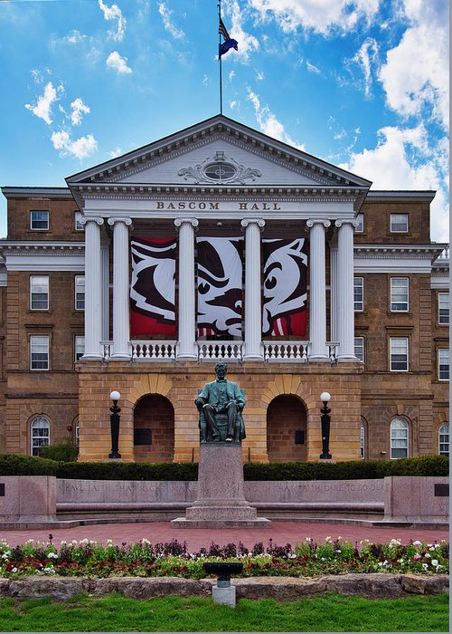 Madison Greeting Card featuring the photograph Bascom Hall - Madison - Wisconsin by Steven Ralser