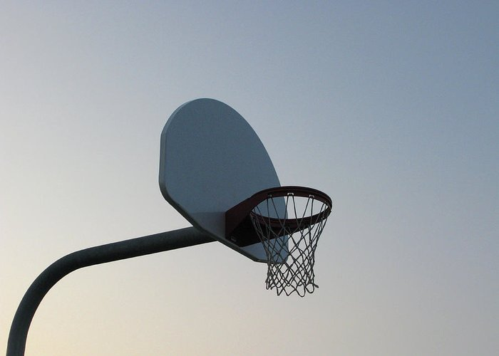 Clear Sky Greeting Card featuring the photograph Basketball Equipment by Nicholas Eveleigh