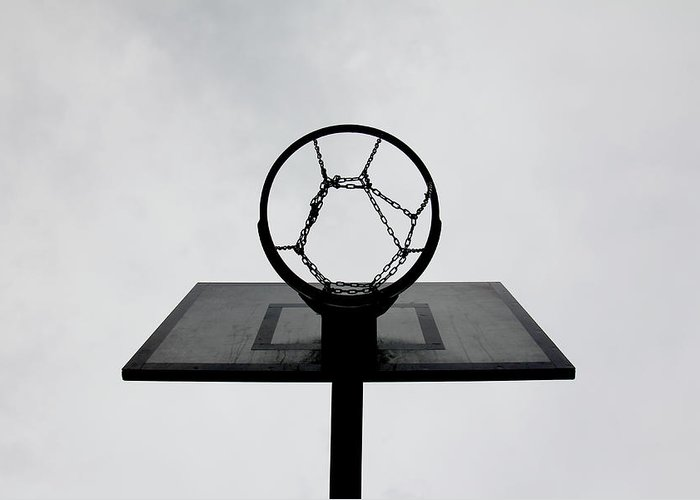 Outdoors Greeting Card featuring the photograph Basketball Hoop by Christoph Hetzmannseder
