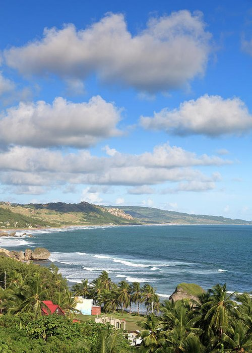 Scenics Greeting Card featuring the photograph Bathsheba Bay, Barbados by Michele Falzone