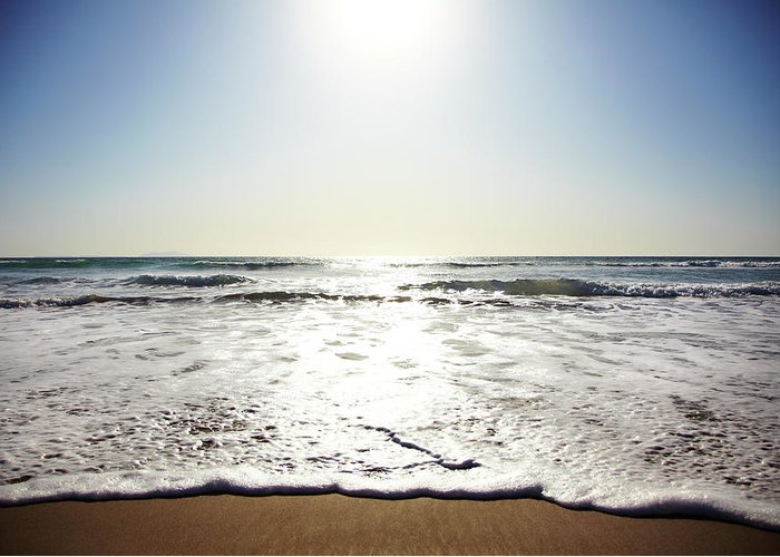 Tranquility Greeting Card featuring the photograph Beach In California On Pacific Ocean by Thomas Northcut