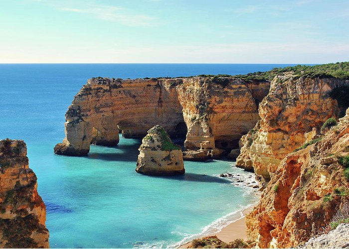 Algarve Greeting Card featuring the photograph Beach by José Luís Pulido