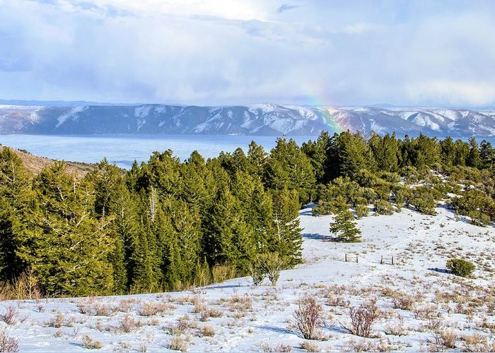 Tranquility Greeting Card featuring the photograph Bear Lake Scenic Byway by ©anitaburke