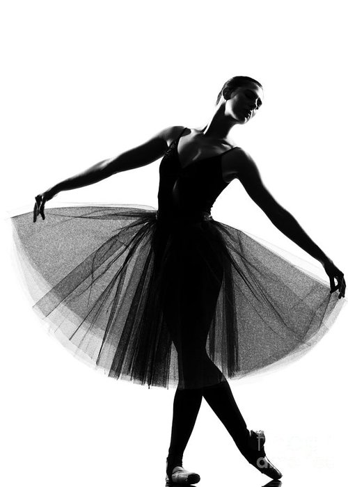 Studio Greeting Card featuring the photograph Beautiful Caucasian Tall Woman Ballet by Ostill Is Franck Camhi