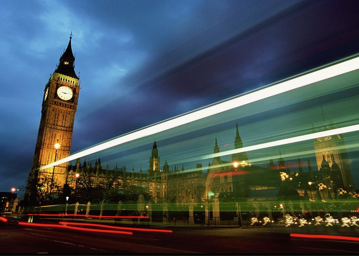 Gothic Style Greeting Card featuring the photograph Big Ben And The Houses Of Parliament by Allan Baxter