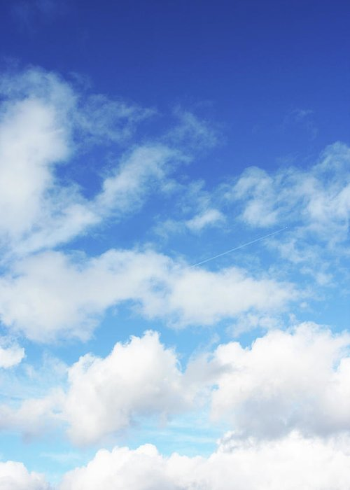 Backdrop Greeting Card featuring the photograph Big Blue Sky by Lpettet