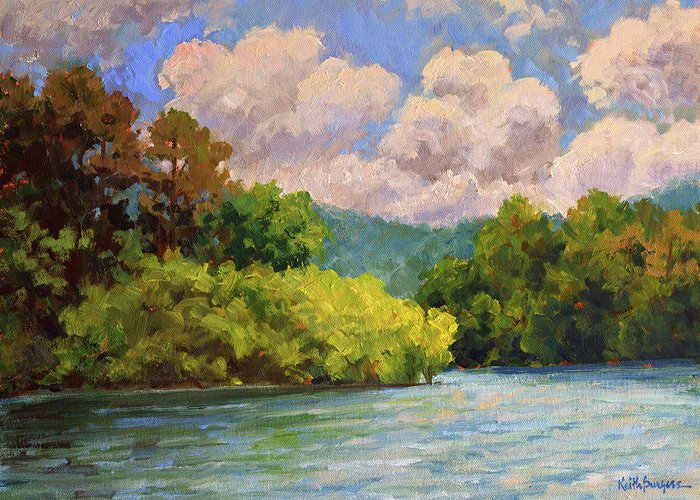 Impressionism Greeting Card featuring the painting Birch Point by Keith Burgess