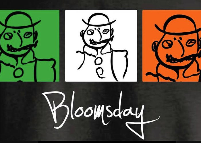 James Joyce Ulysses Bloomsday Greeting Card featuring the drawing Bloomsday by Roger Cummiskey