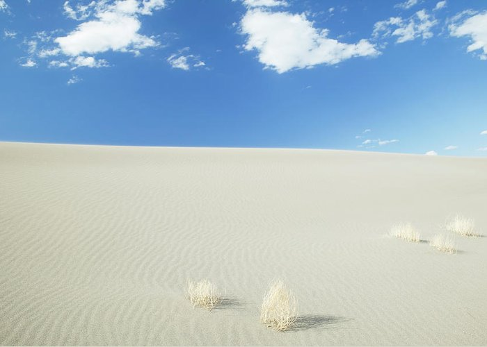 Sand Dune Greeting Card featuring the photograph Blue Sky Over Sand Dune by Bryan Mullennix