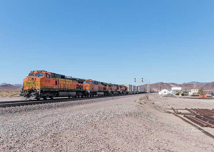 Bnsf Greeting Card featuring the photograph Bnsf5130 by Jim Thompson