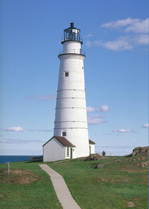 Scenics Greeting Card featuring the photograph Boston Lighthouse by Wbritten
