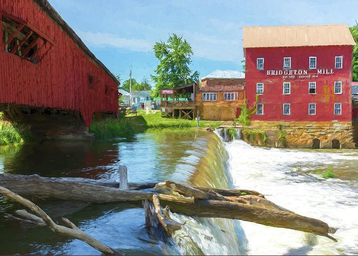 Mill Greeting Card featuring the photograph Bridgeton Mill #1 by Stephen Stookey