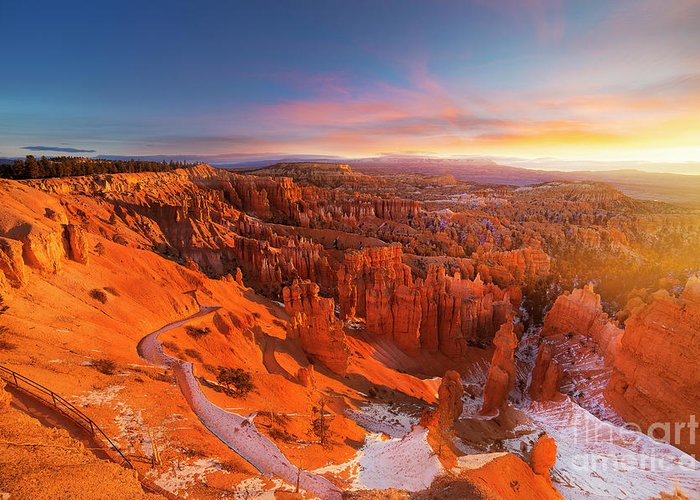 Scenics Greeting Card featuring the photograph Bryce Canyon National Park At Sunset by Ankit Saxena