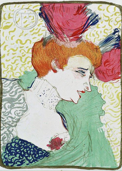 Henri De Toulouse-lautrec Greeting Card featuring the painting Bust Of Miss. Marcelle Lender - Digital Remastered Edition by Henri de Toulouse-Lautrec