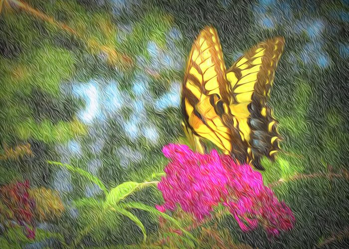 Butterfly Greeting Card featuring the photograph Butterfly Likeness by Ches Black