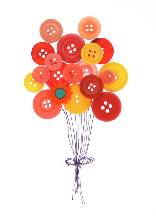 Brampton Greeting Card featuring the photograph Buttons As Balloons by Lisa Stokes