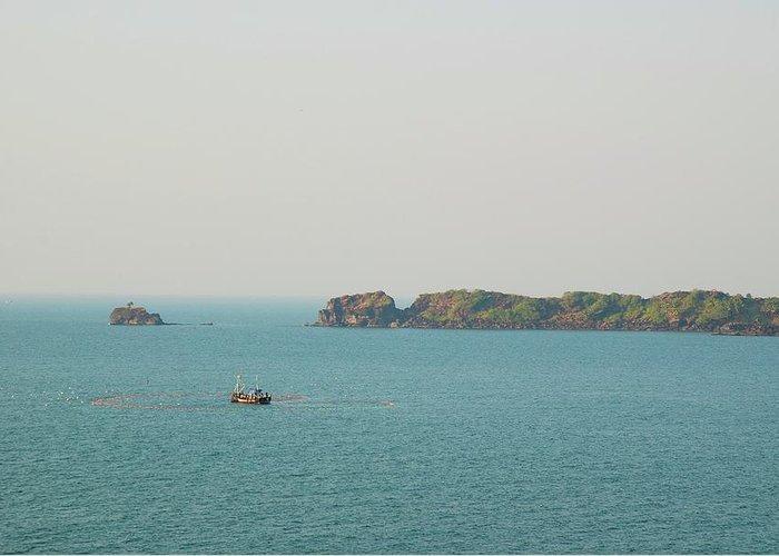 Scenics Greeting Card featuring the photograph Cabo De Rama, Goa by Cranjam