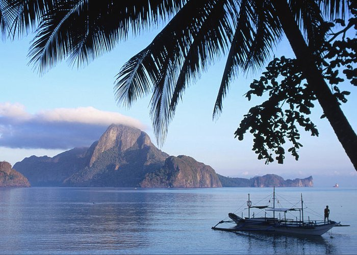 People Greeting Card featuring the photograph Cadlao Island From El Nido, Sunrise by Dallas Stribley