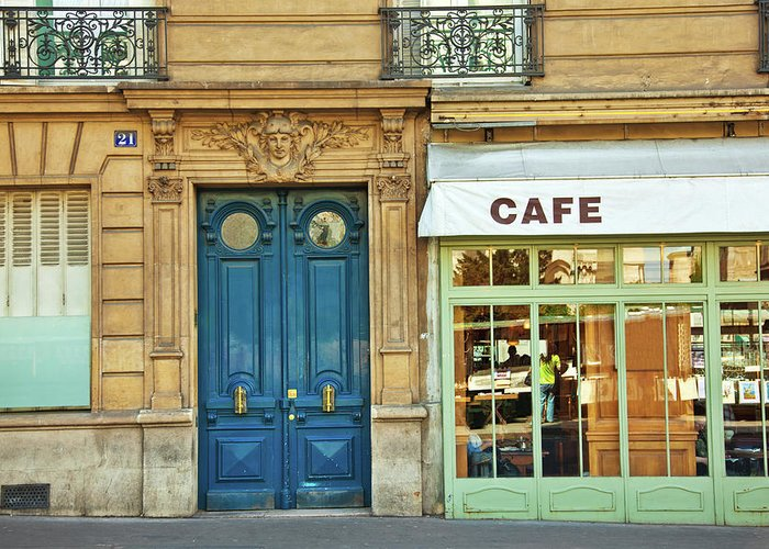 Diner Greeting Card featuring the photograph Cafe In Paris by Nikada