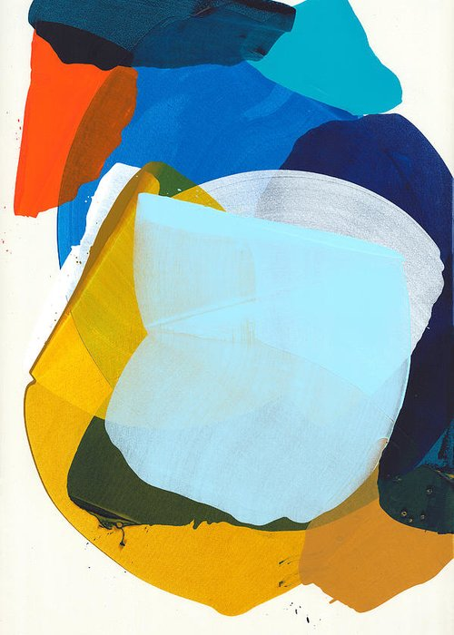 Abstract Greeting Card featuring the painting California 05 by Claire Desjardins