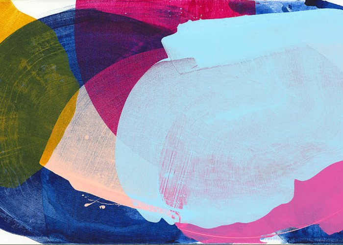 Abstract Greeting Card featuring the painting California 06 by Claire Desjardins