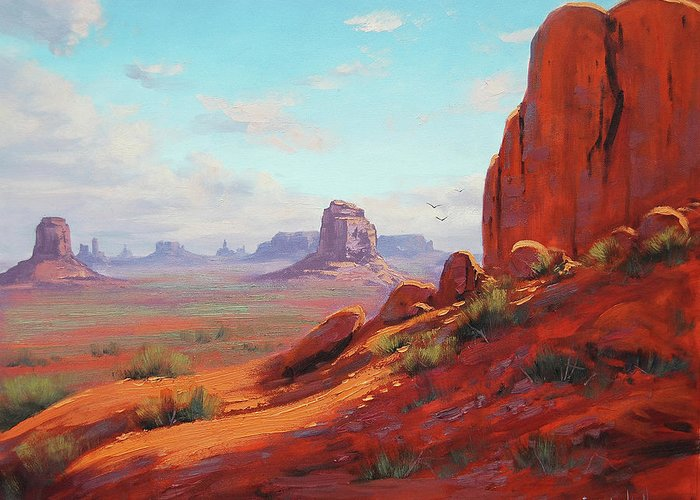 Canyonlands Greeting Card featuring the painting Canyonlands by Graham Gercken