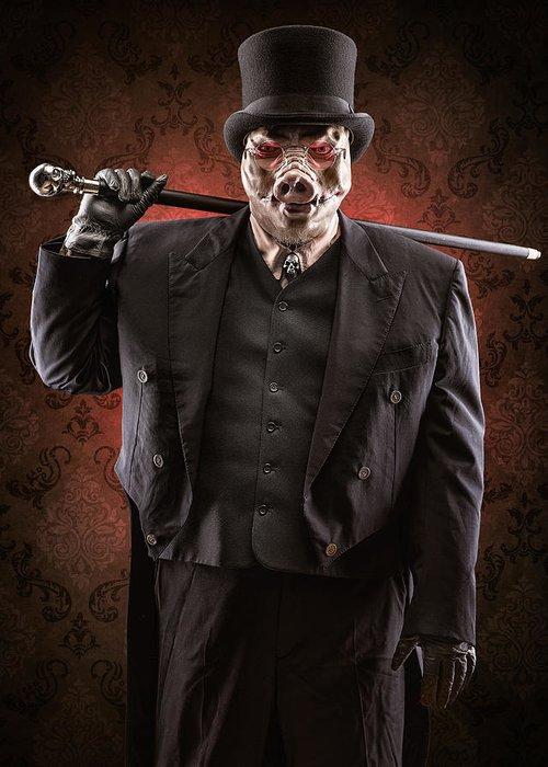 Pig Skull Greeting Cards