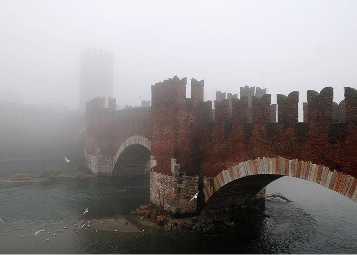 Arch Greeting Card featuring the photograph Castelvecchio Bridge by Stefano Zuliani Photo