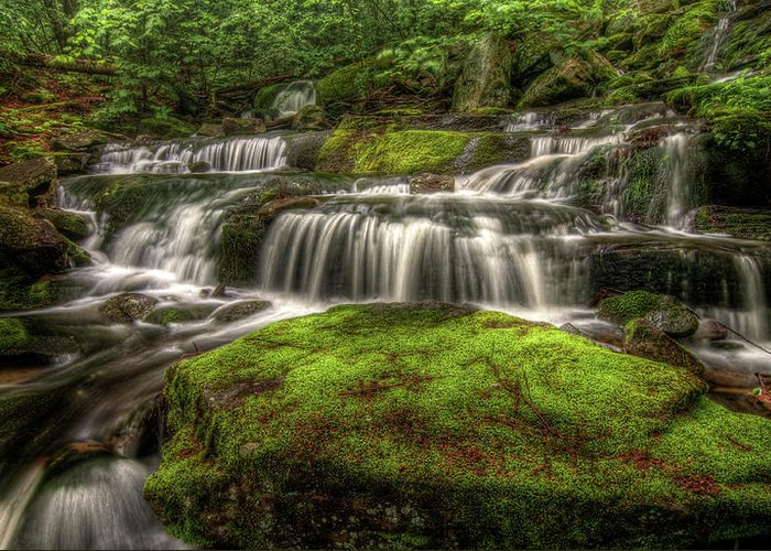 Scenics Greeting Card featuring the photograph Catskill Waterfall by Kevin A Scherer