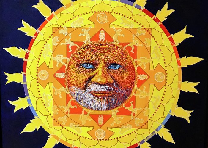 Cbs Sunday Morning Sun Mandala Greeting Card For Sale By Gail Allen