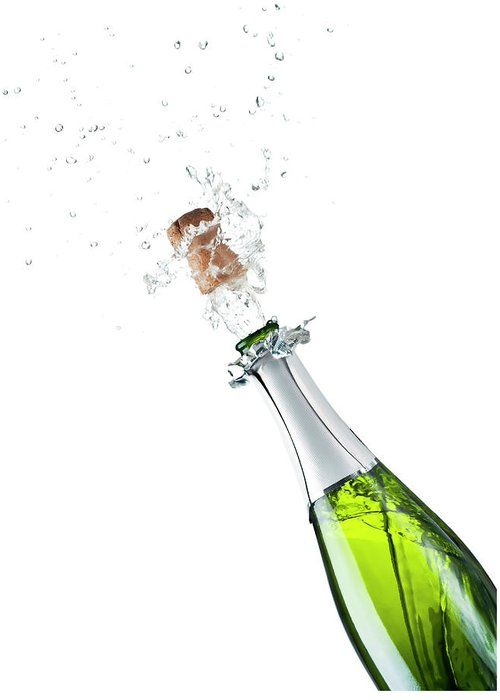Releasing Greeting Card featuring the photograph Champagne Bottle by Mphillips007