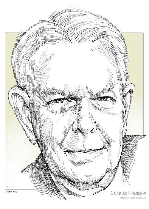 History Greeting Card featuring the drawing Charles Hamilton by Greg Joens