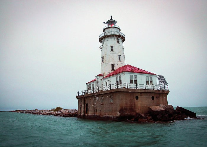 Lighthouse Greeting Card featuring the photograph Chicago Lighthouse by Fred DeSousa