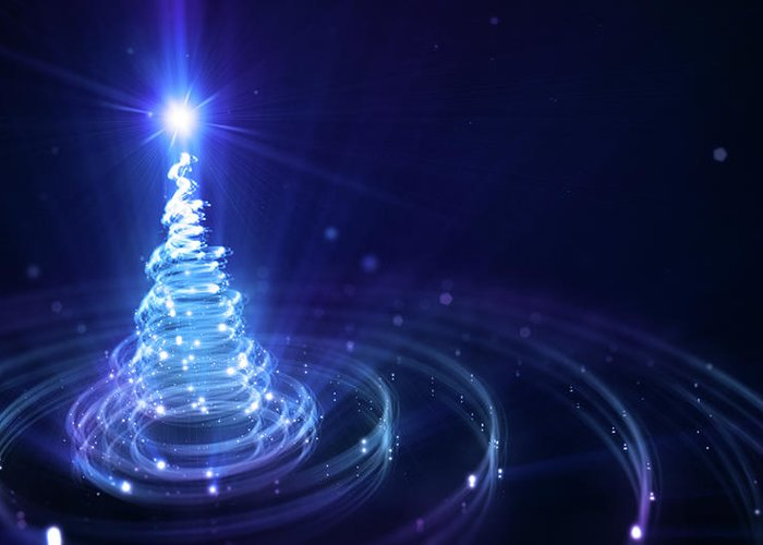 Particle Greeting Card featuring the digital art Christmas Background by Da-kuk