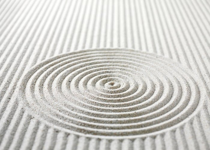 In A Row Greeting Card featuring the photograph Circles And Lines In Sand by Wragg