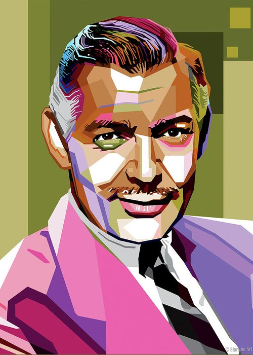 Clark Gable Greeting Cards