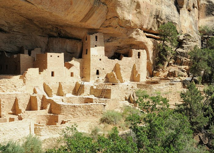 Mesa Verde National Park Greeting Card featuring the photograph Cliff Palace In Mesa Verde, Colorado by Sshepard