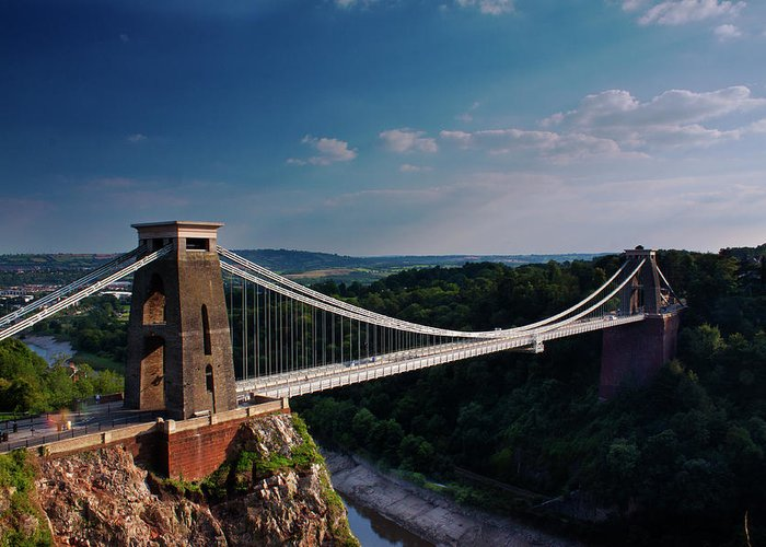 Tranquility Greeting Card featuring the photograph Clifton Suspension Bridge by Clive Rees Photography