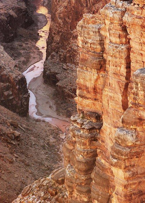 Water's Edge Greeting Card featuring the photograph Colorado River Glen Canyon Gorge by Chuckschugphotography